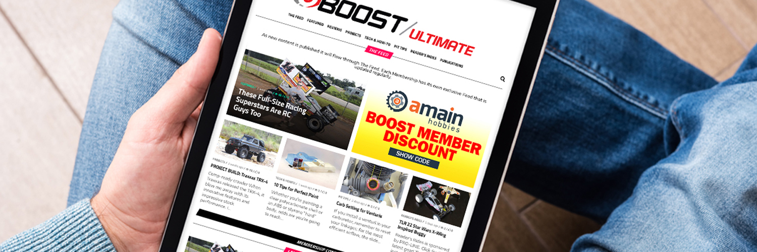 RC Car Boost Membership Banner